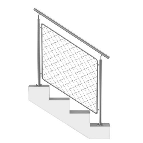 Garde-Corps Escalier Acier Inox