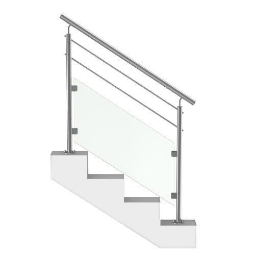 Rampe Escalier Verre et Barres