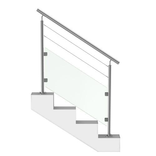Rampe Escalier Verre et Câbles