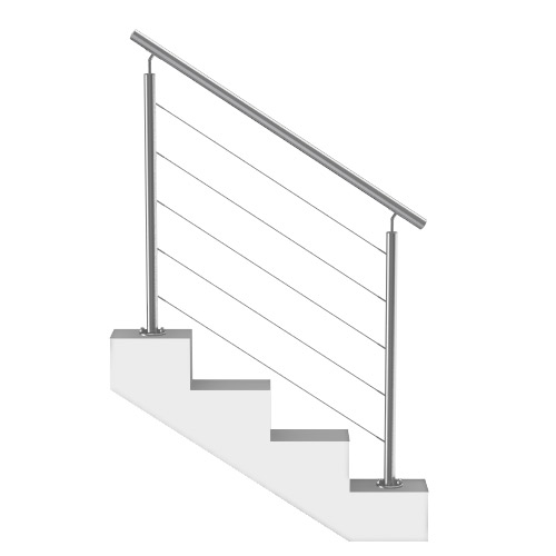 Rampe Escalier à Cables Inox Sur Mesure