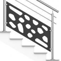 Rampe Escalier Acier Inox