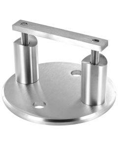 Kit platine d'ancrage lateral ronde pour poteau