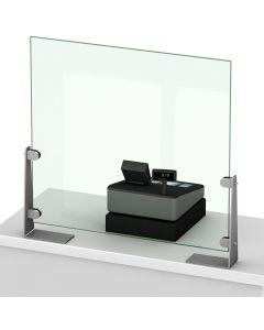 Equerre inox pour écran Protection de Comptoir d'accueil