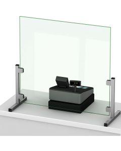 Support inox pour écran Protection de Comptoir d'accueil
