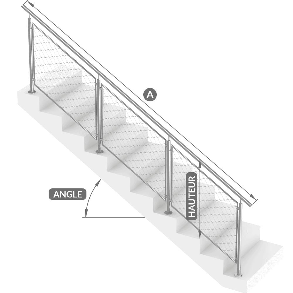Garde-corps escalier acier inox sur mesure
