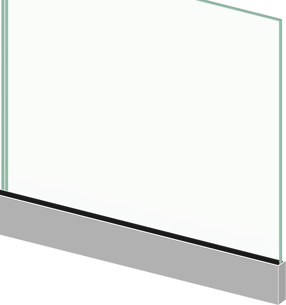 Garde-corps verre à profilé sur mesure