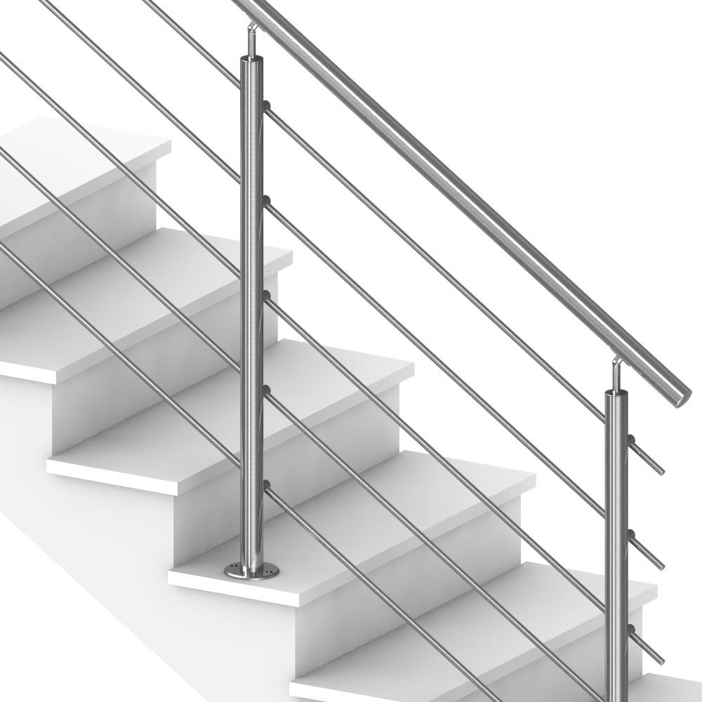Garde Corps Exterieur Pas Cher rambarde escalier exterieur à 5 barres pose au sol