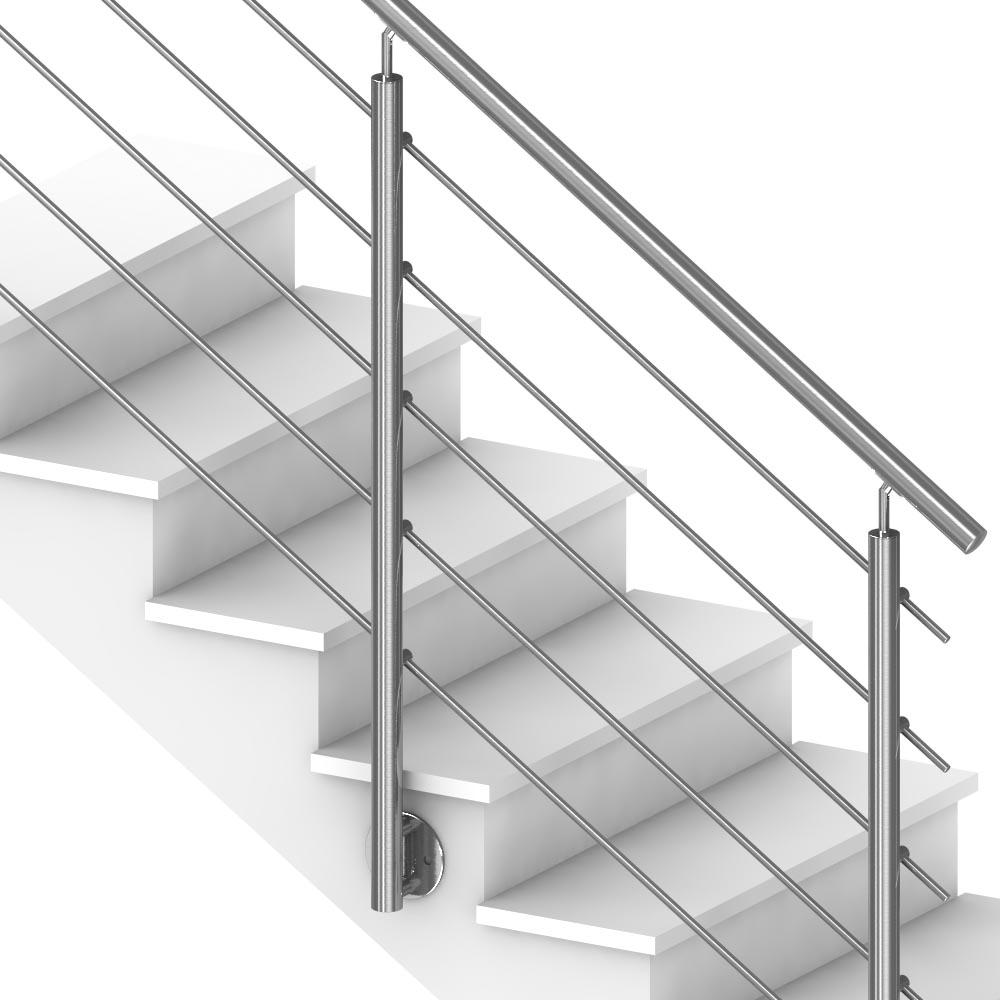 Rampe D Escalier Murale Bois rampe escalier extérieur 5 barres pose anglaise