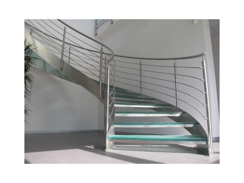 escalier balustrade inox design marches en verre  inoxdesign8