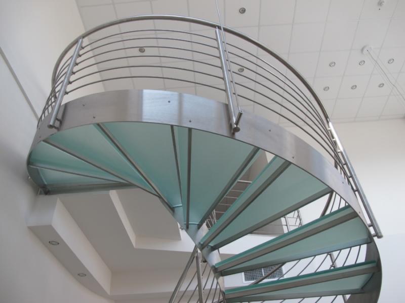 escalier inox design marches en verre  inoxdesign 11
