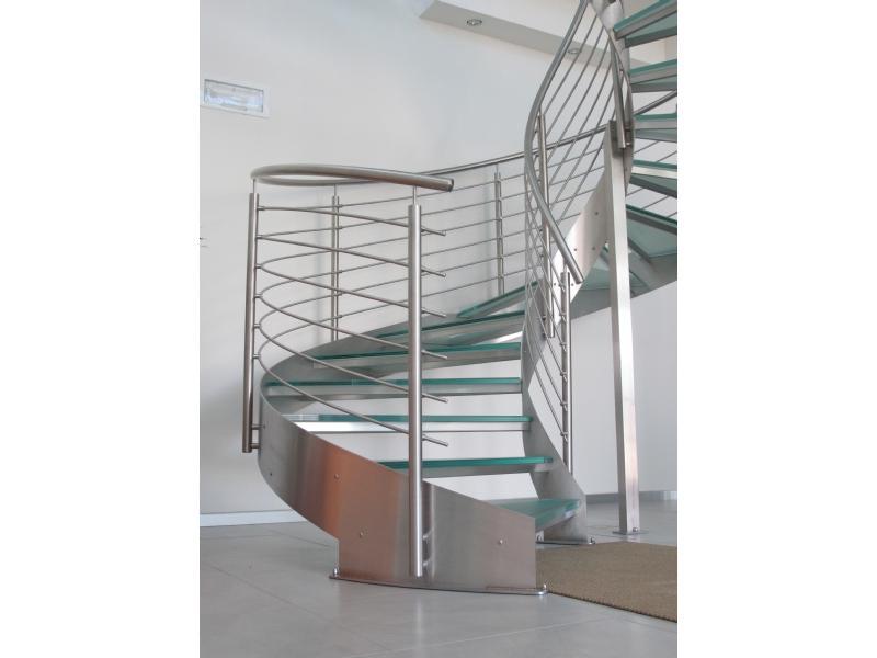 escalier inox design marches en verre  inoxdesign 12