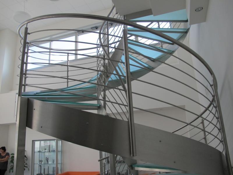 escalier inox design marches en verre  inoxdesign 4