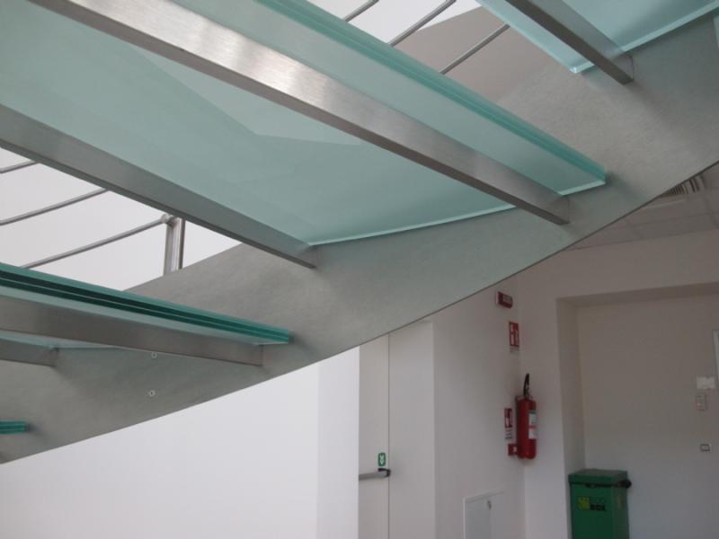 escalier inox design marches en verre  inoxdesign 5