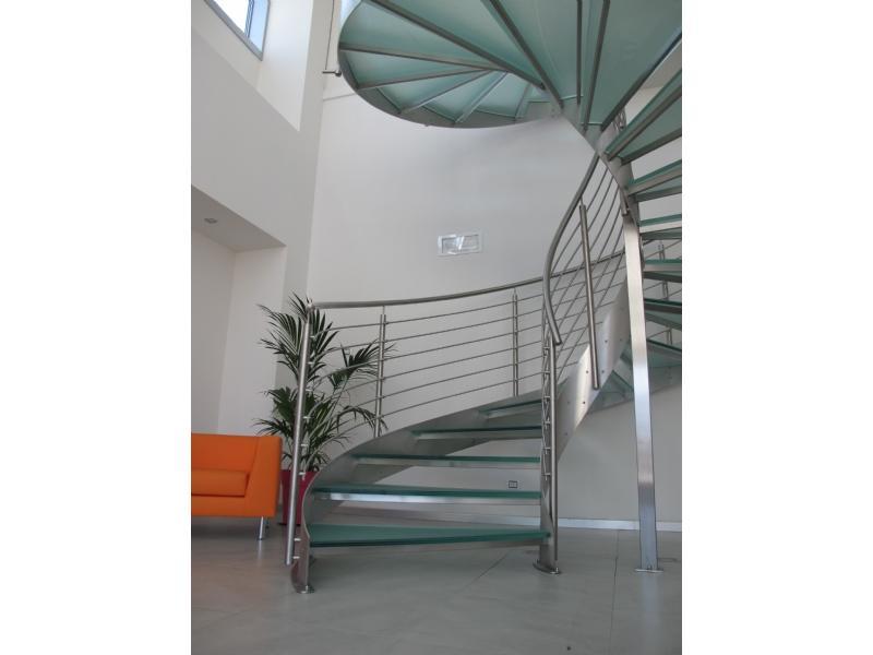 escalier inox design marches en verre  inoxdesign 6