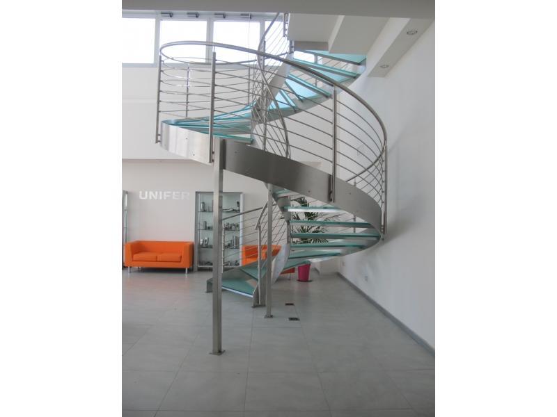 escalier inox design marches en verre  inoxdesign 7