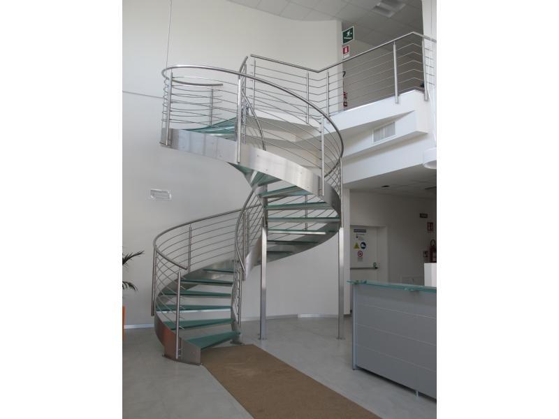 escalier inox design marches en verre  inoxdesign 9
