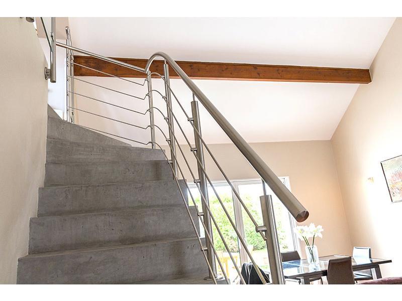 rampe d escalier inox design