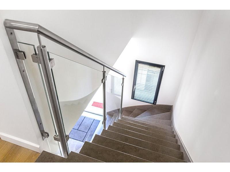 rampe escalier verre design