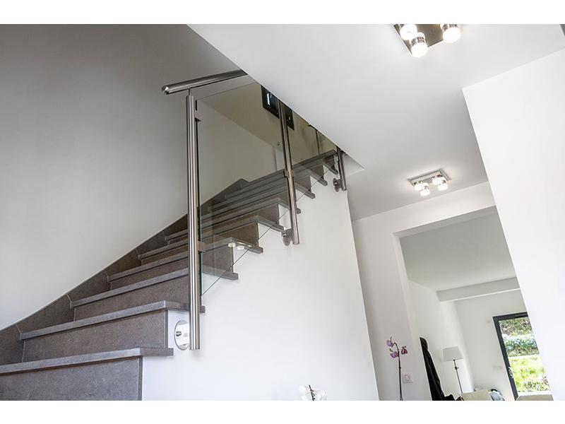 rampe escalier verre inoxdesign