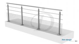 Balustrade Balcon 11 Barres inox