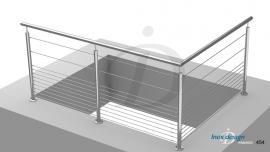 rambarde cable tremie mezzanine
