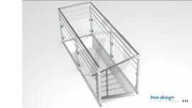 garde corps verre de tremie escalier Mezzanine