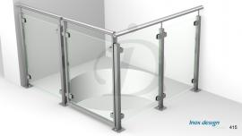 garde corps verre et portillon inox de tremie escalier Mezzanine