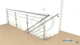 balustrade verre de tremie DROITE escalier Mezzanine