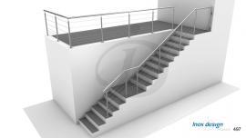 Rampe Escalier Extérieur Cable Inox