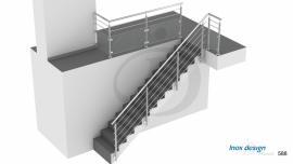 Garde-Corps escalier Béton à Tubes