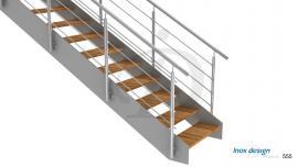 Rampe Escalier inox Latérale
