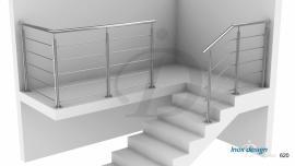 Garde-Corps Escalier inox Terrasse