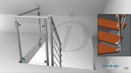 garde corps de tremie escalier Mezzanine N°107