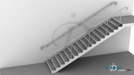 Rampe d'Escalier inox ERP