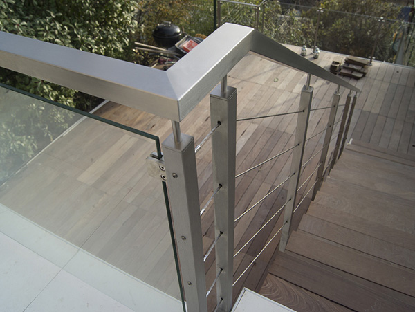 Rampe escalier avec tubes cintrés