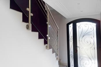 Garde corps escalier verre et inox