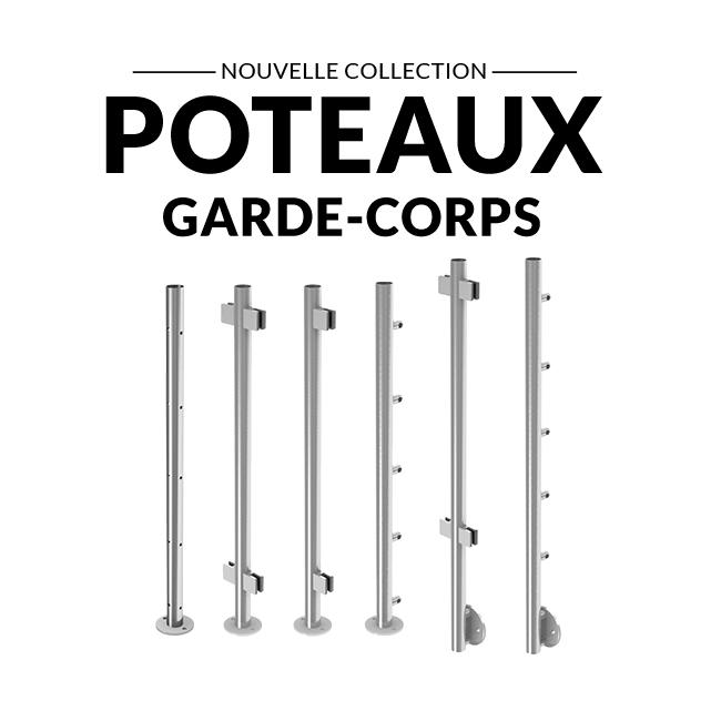 nouvelle collection poteaux inox