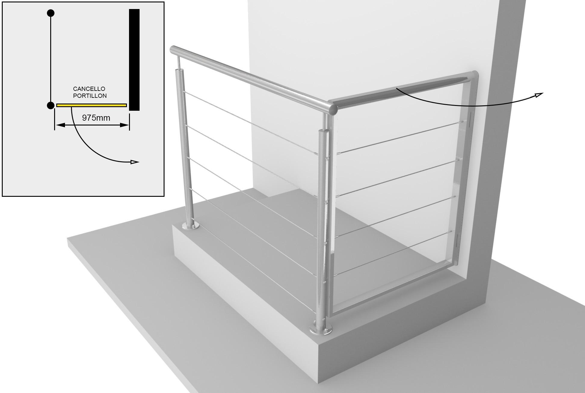 projet de portillon intégré à son garde-corps