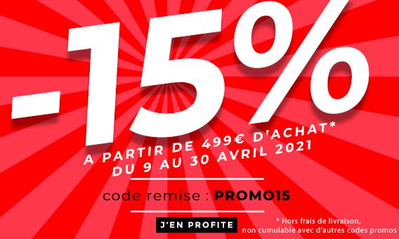 -15% sur tout le site dès 99€