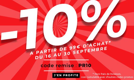 Promo 10% de remise dès 99€
