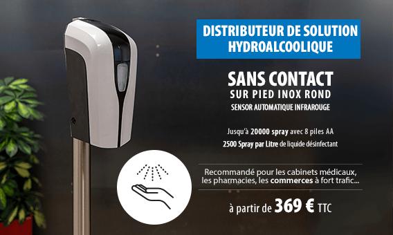 distributeur de gel Hydrolaccolique sans contact