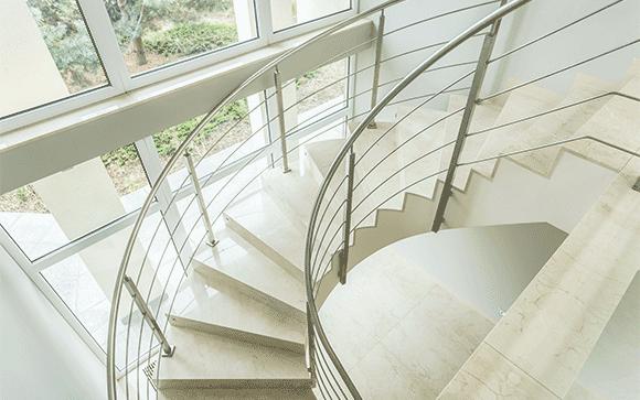 escalier débillardé principe
