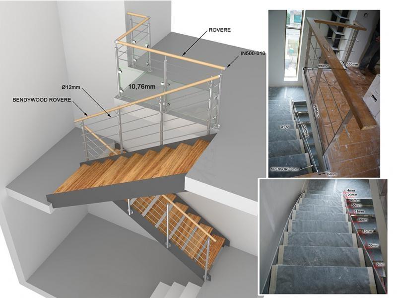 étude 3D garde-corps et escalier dans le 92