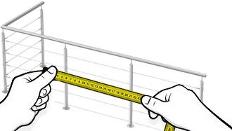 garde corps câble en forme de L