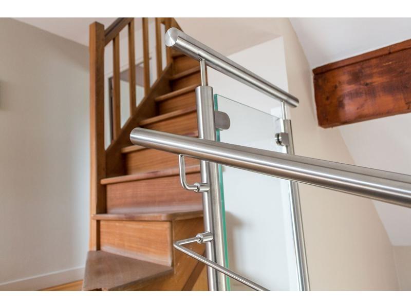 garde corps inox verre escalier versailles