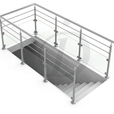 garde-corps trémie escalier banque d'images projet inoxdesign