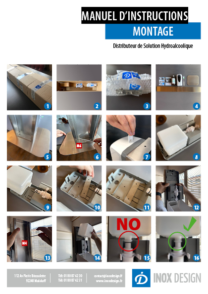 montage distributeur automatique désinfectant hydroalcoolique 2