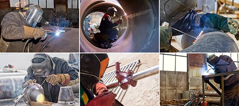 photos de soudure et soudage de pieces metalliques et elements de pipelines