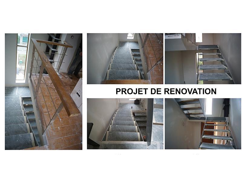 projet de rénovation garde-corps et escalier dans le 92