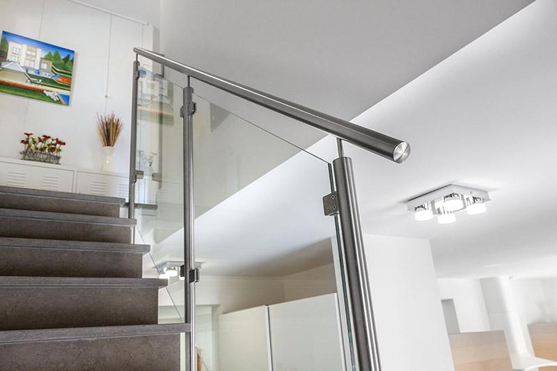 rampe escalier verre